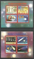 Montserrat 1986 Halleys Comet Mi Bloc 35-36 MNH(**) - Montserrat