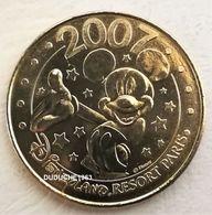 Monnaie De Paris 77.Disneyland 12 Mickey 2007 Revers 2007 - Monnaie De Paris
