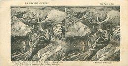 LA GRANDE GUERRE - BATAILLE DE CHAMPAGNE (1915) - REDOUTABLES EFFETS DE L'ARTILLERIE FRANÇAISE - Stereoscope Cards