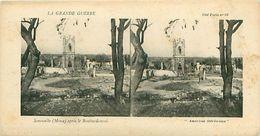 LA GRANDE GUERRE - SOMMEILLE (MEUSE) APRES LE BOMBARDEMENT - Stereoscope Cards