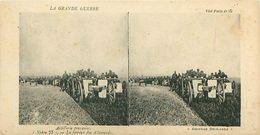 """LA GRANDE GUERRE - ARTILLERIE FRANCAISE - """"NOTRE 75"""" - LA TERREUR DES ALLEMANDS - Stereoscope Cards"""