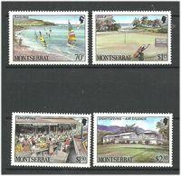 Montserrat 1986 Tourism, Sailing Boats Mi 658-661 MNH(**) - Montserrat