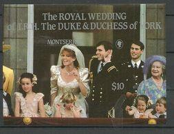 Montserrat 1986 Royal Wedding,  Mi Bloc 37 MNH(**) - Montserrat