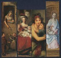 -247-  THEME : FEMME ET ENFANT  * ART PEINTURE * - LOT 4 MARQUE PAGE - Bookmarks
