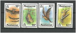 Montserrat 1988 Bats,  Mi 696-699 MNH(**) - Montserrat