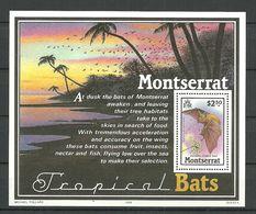 Montserrat 1988 Bats,  Mi Bloc 47 MNH(**) - Montserrat