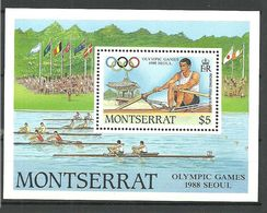 Montserrat 1988 Olympic Summer Games Seoul,  Mi Bloc 49 MNH(**) - Montserrat