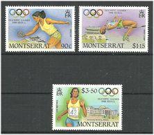 Montserrat 1988 Olympic Summer Games Seoul,  Mi 706-708 MNH(**) - Montserrat