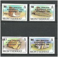 Montserrat 1988 Princess Alexandra Visits Montserrat,  Mi 727-730 MNH(**) - Montserrat
