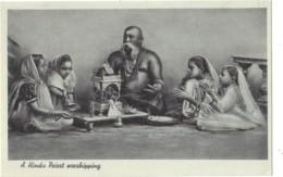 India - A Hindu Priest Worshipping, Religon - India