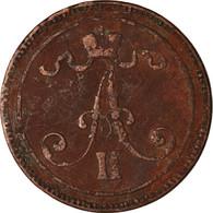 Monnaie, Finlande, Alexander II, 10 Pennia, 1865, B+, Cuivre, KM:5.1 - Finland