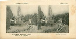 LA GRANDE GUERRE - LE MONUMENT DE PASSAVANT (MEUSE) MUTILE PAR LES ALLEMANDS - Stereoscope Cards