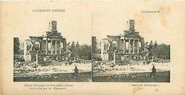 LA GRANDE GUERRE - MAISON COMMUNE DE SOMMEILLE (MEUSE) BOMBARDÉE PAR LES ALLEMANDS - Stereoscope Cards