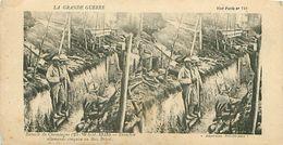 LA GRANDE GUERRE - BATAILLE DE CHAMPAGNE (1915) - TRANCHÉE ALLEMANDE CONQUISE AU BOIS BRICOT - Stereoscope Cards