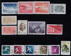 CHINA 1956-1957 SCOTT 287,290,292,295,299,300,304,306-310,313,319,332 - Usati