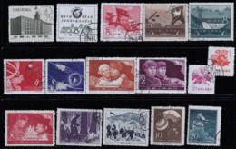 CHINA 1958 SCOTT 372,374,375,377-380,382,384,387-391,396,397 - Usati