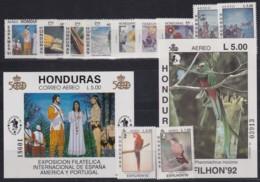 F-EX17892 HONDURAS MNH DISCOVERY OF AMERICA COLUMBUS COLON  COLON  SET UPAEP BIRD - Honduras