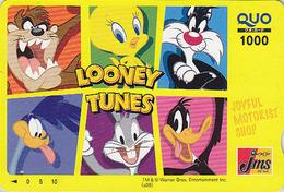 Carte Japon - BD Comics - TITI & Chat GROSMINET Lapin BUGS BUNNY Coyote - TWEETY Bird & Rabbit Japan Prepaid Quo Card 85 - Stripverhalen