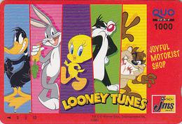 Carte Japon BD Comics - TITI & Chat GROSMINET Lapin BUGS BUNNY - TWEETY Bird CAT & Rabbit Japan Prepaid Quo Card - 86 - Stripverhalen
