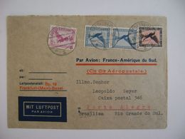GERMANY - LETTER SENT FROM PFORZHEIM TO PORTO ALEGRE  (BRAZIL) VIA AEROPOSTALE  IN 1932 IN THE STATE - Andere