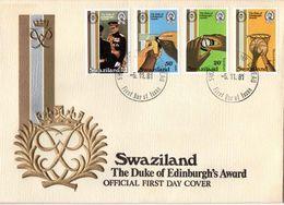 Swaziland - 1981 Duke Of Edinburgh Award Scheme FDC # SG 385-388 - Swaziland (1968-...)