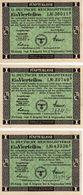 LOTTERY TICKET, 11. DEUTSCHE REICHSLOTTERIE, AUSTRIA, OSTERREICH, 1944, 3 KOM. - Lottery Tickets