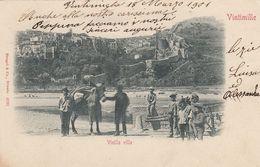 VENTIMIGLIA-IMPERIA-CITTÀ VECCHIA-BELLA ANIMAZIONE-CARTOLINA  VIAGGIATA  IL 18-3-1901 - Imperia