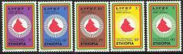 Ethiopia, Scott # 743-7 MNH Revolution Anniv., Map, 1975 - Ethiopie
