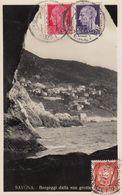 -BERGEGGI-SAVONA-CARTOLINA VERA FOTOGRAFIA- VIAGGIATA  IL 12-8-190220-5-1931 - Savona