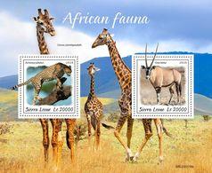 Sierra Leone 2020 African Fauna, Antelope, Leopard S202003 - Sierra Leone (1961-...)