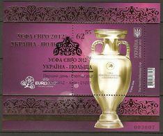 Ukraine 2012 Coccer UEFA European Championship Poland The Henri Delaunay Cup S\sh CTO 100,00 € - 1944-.... Republic