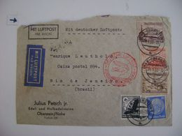GERMANY - LETTER SENT FROM IDAR-OBERSTEIN TO RIO DE JANEIRO (BRAZIL) VIA LUFTPOST IN 1938 IN THE STATE - Other