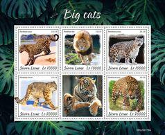 Sierra Leone 2020 Fauna , Big Cats, Lion ,snow Leopard , Tiger S202003 - Sierra Leone (1961-...)