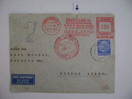 GERMANY - LETTER SENT FROM PFORZHEIM TO BUENOS AIRES  (ARGENTINA) VIA LUFTPOST IN 1936 IN THE STATE - Autres