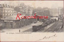 Liege Interieur De La Gare Du Palais Station Train Luik Statie Station Trein - Liege