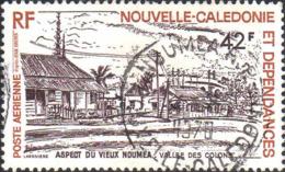 Nle-Calédonie Avion Obl Yv:183 Mi:605 Aspect Du Vieux Nouméa Vallée Des Colons (TB Cachet Rond) - Airmail