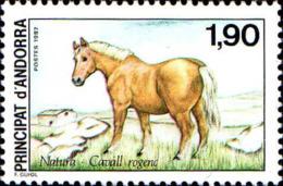 Andorre (F) Poste N** Yv:361 Mi:382 Natura Cavall Rogenc (Thème) - Caballos