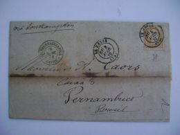 FRANCE - LETTER SENT FROM LE HAVRE TO PERNAMBUCO (BRAZIL) IN 1878 IN THE STATE - Unclassified
