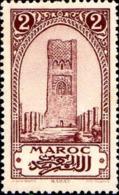 Maroc (Prot.Fr) Poste N* Yv: 99b Mi 51 Yv:0,3 Euro Rabat Tour Hassan Héliogravure (Trace De Charnière) - Ungebraucht