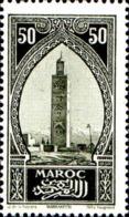 Maroc (Prot.Fr) Poste N** Yv:113 Mi:65 Marrakech La Koutoubia - Ungebraucht
