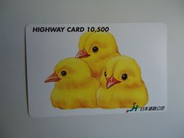 JAPAN OTHERS CARDS TICKET TICKETS TRAINS BUS TRAM  METRO GIFT ANIMALS BIRDS - Japón