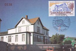 Saint-Pierre & Miquelon - Carte Maximum 1er Jour Résidence Du Préfet - CAD 6 Octobre 1993 - Timbre YT 584 - Maximumkaarten