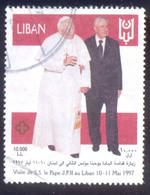LEBANON 10000L USED STAMP 58386 VISIT SS LE PAPEE J PLLAU - Libanon