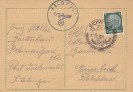 Allemagne - LAC Eichwald-über-Teplitz-Schönau Pour Eisenbrod - 20/05/1941 - Timbre 6p YT 445 - Faux Cachet IIIème Reich - Duitsland