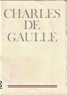 Rare Plaquette Mémorial Charles De Gaulle 64 Pages - 1939-45