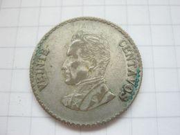Colombia , 20 Centavos 1953 - Colombia