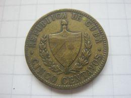 Cuba , 5 Centavos 1943 - Cuba