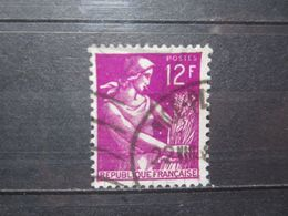 """VEND BEAU TIMBRE DE FRANCE N° 1116 , OBLITERATION """" NICE """" !!! - 1957-59 Moissonneuse"""