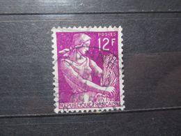 """VEND BEAU TIMBRE DE FRANCE N° 1116 , OBLITERATION """" CANNES """" !!! - 1957-59 Moissonneuse"""