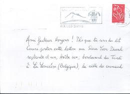 Lettre Avec Adresse En Forme De Poème En Alexandrins (d'Aix-les-Bains Vers La Louvière, Belgique) 2/11/2005 - Autres